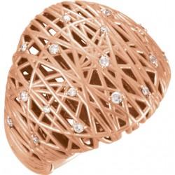 14K Rose 1/5 CTW Diamond Nest Design Ring