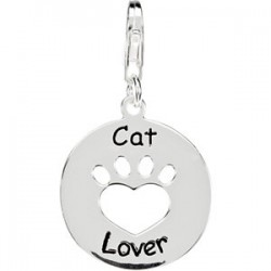 Heart U Back™ Cat Lover Paw Charm