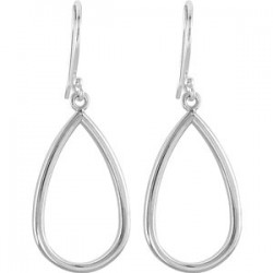 Sterling Silver Pear Shaped Earrings