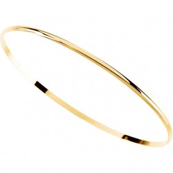 14kt Yellow 2mm Half Round Bangle Bracelet