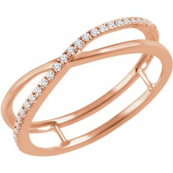 14K Rose 1/10 CTW Diamond Criss-Cross Ring