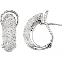 PavC) Omega Clip Back Earrings