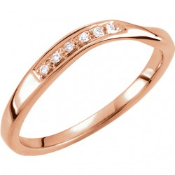 Stackable Diamond Wave Ring