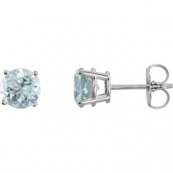 Sterling Silver 3.5mm Round Cubic Zirconia Earrings
