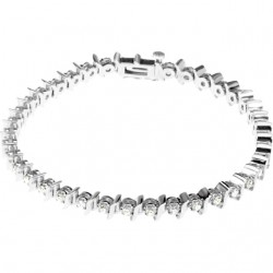 "14K White 1 1/2 CTW Diamond Line 7.25"" Bracelet"