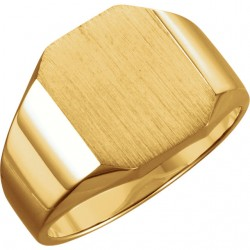 14K Yellow 14x12mm Men