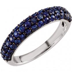 14kt White Blue Sapphire Ring