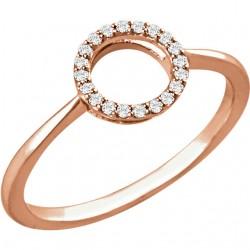 14K Rose 1/10 CTW Diamond Circle Ring