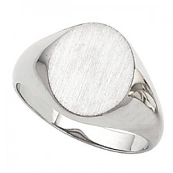 Sterling Silver 16x14mm Men