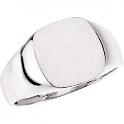 14K White 12mm Men