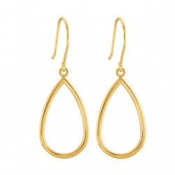 14K Yellow Pear Shaped Earrings