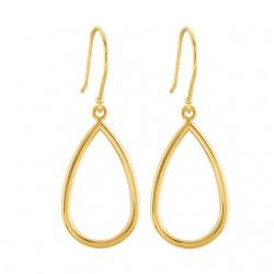 14K Yellow Pear Shaped Earrings