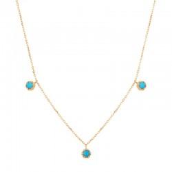 AMINA Turquoise 3-Stone Station Necklace