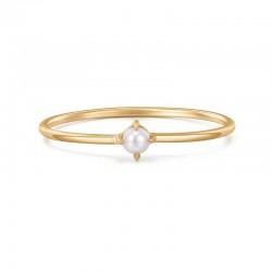 FANTASIA White Pearl Stacker Ring