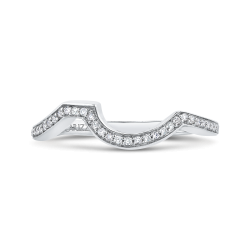 14K White Gold .13 Ct Diamond Carizza  Wedding Band
