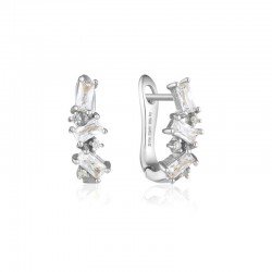 Cluster Huggie Earrings