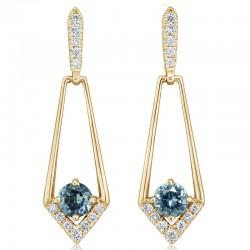 Montana Sapphire and Diamond Earrings