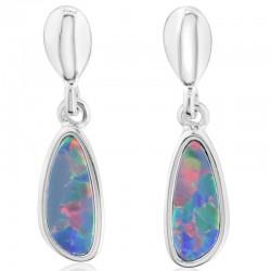 Opal Doublet Drop Earrings