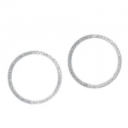 10K 1/5Cttw Circle Earrings