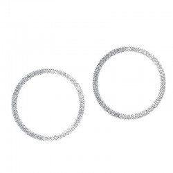 10K 0.25Cttw  Circle Earrings