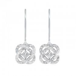 Loves Crossing Diamond Earrings 1/4ctw