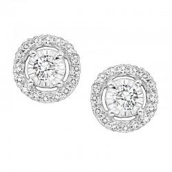 1ctw halo diamond earrings