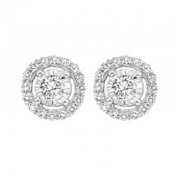 14KW Diamond Earrings 1/4 ctw