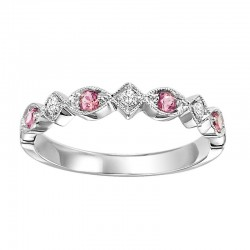 10K Pink Tourmaline & Diamond Mixable Ring