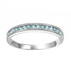 10K Blue Topaz Mixable Ring