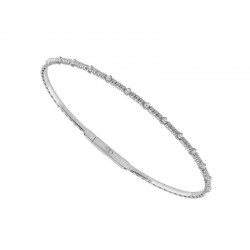 14KT White Gold Diamond Cut Flex Bracelet