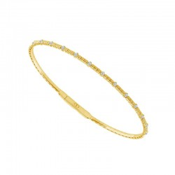 14KT Yellow Gold Diamond Cut Flex Bracelet