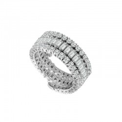 Baguette and round diamond Flexie band