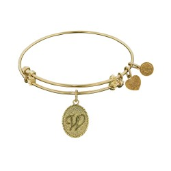 Angelica Letter-W Bangle
