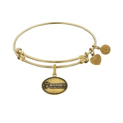 Brass with Yellow Finish U.S. Marines The Few. The Proud. Angelica Bangle