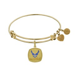 Brass with Yellow Finish U.S. Air Force Angelica Enamel Bangle