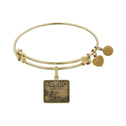 Brass with Yellow Finish Friends Regina Phalange Angelica Bangle