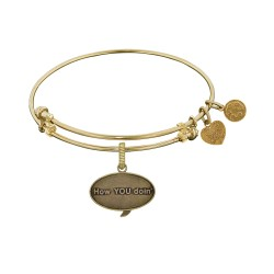 Brass with Yellow Finish Friends How You Doin Angelica Bangle