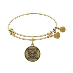 Brass with Yellow Finish Friends 20Th Anniversary Angelica Bangle