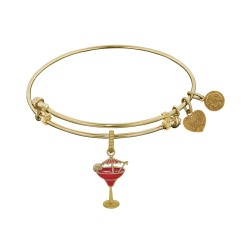 Brass with Yellow Finish Enamel Umbrella Drink Charm For Angelica Bangle
