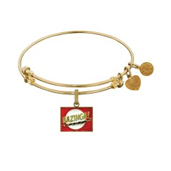 Brass with Yellow Finish  Bazinga Charm for Angelica Bangle