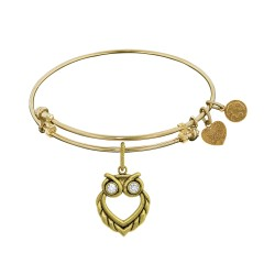 Brass with Yellow Finish Owl Angelica Bangle For Angelica Bangle