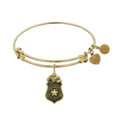 Brass with Yellow Finish Police Officer Charm For Angelica Bangle