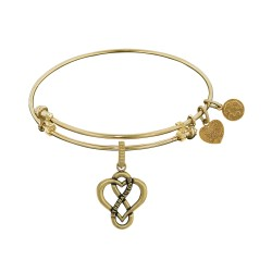Brass with Yellow Eternal Love Heart Charm For Angelica Bangle