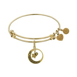 Brass with Yellow Love You To The Moon & Back Charm For Angelica Bangle