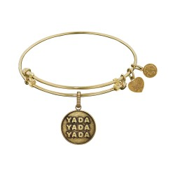 Brass Yellow Finish Seinfeld Yada- Yada-Yada Charm for Angelica Bangle