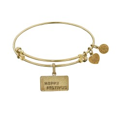 Brass Yellow Seinfeld Happy Festivus Charm for Angelica Bangle