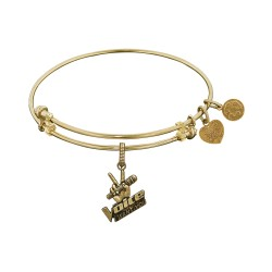 Brass Yellow The Voice Microphone Charm for Angelica Bangle