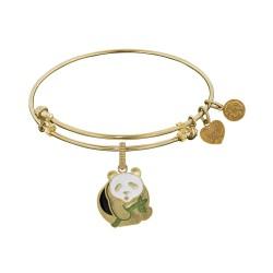 Brass with Yellow Panda Charm Charm For Angelica Bangle