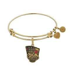Brass with Yellow Casino Night Charm For Angelica Bangle