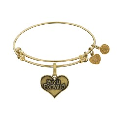 Brass with Yellow Pay It Forward Charm For Angelica Bangle